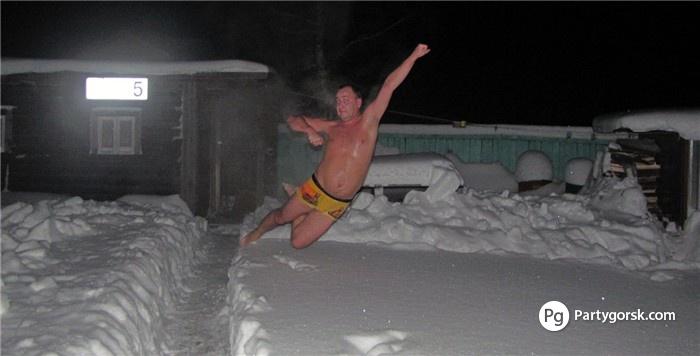 моюсь в бане зимой фото
