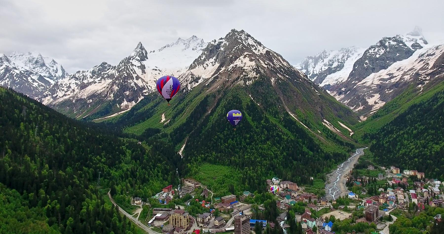 Мы открыли Кавказ для полетов на воздушном шаре